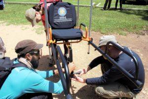 Cadeira adaptada para portadores de deficiências